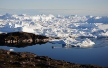 Hiking in Ilulissat Icefjord UNESCO World Heritage Site
