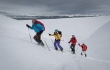 Snowshoeing the summits