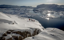 Snowshoeing in Ilulissat Icefjord UNESCO World Heritage Site