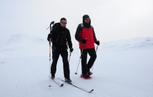 Ski touring along the Icefjord