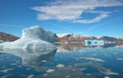 Beautiful Greenlandic iceberg landscape