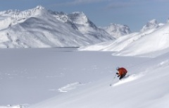 Cross country skiing in Greenland